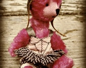 """PATTERN Mini Bear Outfit Pattern/Tutorial PDF for Steampunk Dress Set for O'Malley the 5-6"""" Miniature Mohair Bear by Cindy Sowers"""