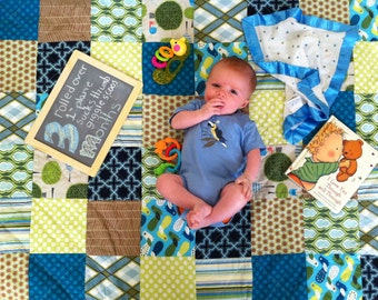 Patchwork Quilt, You choose Size and color palette