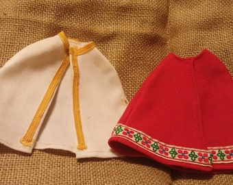 Two vintage cloaks for barbie