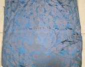 Surprise SALE - Antique Fabric Damask Peacocks Lions French