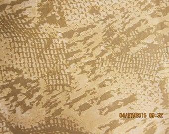 ANIMAL FABRIC JUNGLE - Hamil Design Reptile Skin - 1 Yard Rare Design - #M27