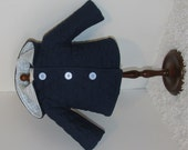 Navy Blue Quilted Jacket, Fits 18 Inch American Girl Dolls