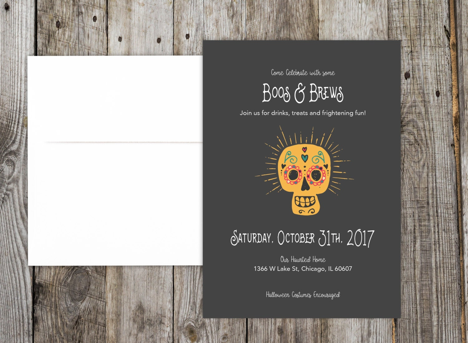 Halloween Party Invitation DIY Printable File Boos and
