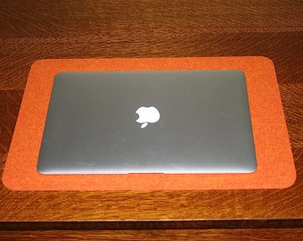 laptop desk pad desktop computer accessories 5mm thick merino wool felt desk blotter lap top mat - Desk Blotter