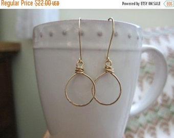 ON SALE Gold Filled Hoops