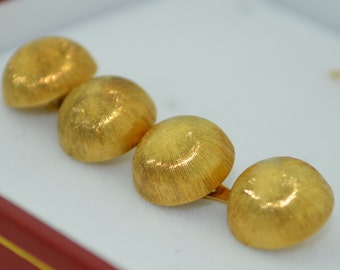 Retro Italian 18K Yellow Gold Cufflinks