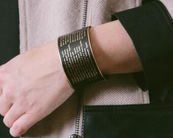 The Iliad - Ancient Greek Cuff Bracelet - Achilles Zeus - Gift For Readers - Teacher Gift - Librarian - Greek Literature - Goddess Jewelry