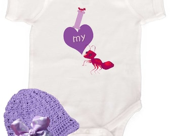 Funny Girl Bodysuit I love my Aunt Baby Girl Bodysuit Newborn Creeper to Girly Tees by Mumsy Goose