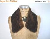 SALE Dark Brown Mink Collar