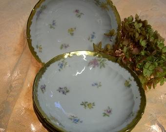 Antique Dessert Bowls, Set Of 4, CT Germany, Floral Ice Cream Bowls, Fruit Bowls Vintage Bowls
