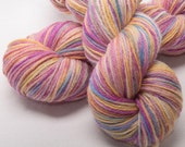 Hand dyed Bluefaced Leicester BFL Hand painted DK yarn 100g skein Grace