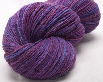 Hand dyed yarn, Alpaca, Lambswool- Hand painted yarn, skein,  Indie dyed,  2ply yarn,625 yards skein - colour: Heather