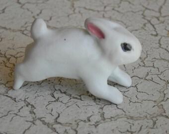 white porcelain running baby bunny rabbit