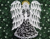Formal Victorian Lace Angel Tree Topper