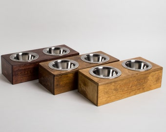 Small Mondavi Wine Crate Pet Feeder