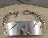 Men's Diamond Plate Metal Bracelet