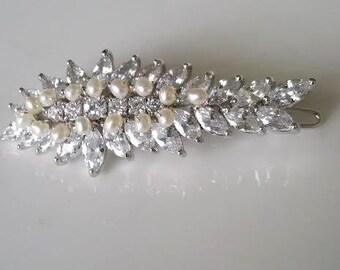 Wedding Hair Clip, Wedding Hair Accessory, Bridal Hair Clip, Crystal Hair Clip
