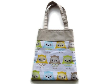 Fabric Owl Gift Bag/Goodie Bag - Owls