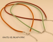 "Set of Three 18"" 3mm Satin Covered Cords with Pre-finished Ends And Clasp"