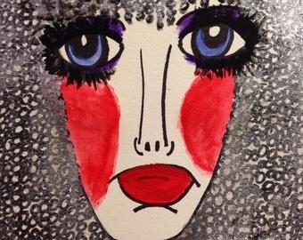Morgan, 9 x 12 mixed media, water color paper, beauty illustration, wall art