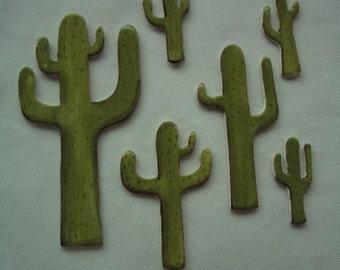 PPP - 6 Piece CACTUS SET - Desert Scene - Ceramic Mosaic Tiles