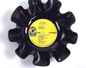 Eric Clapton Vinyl Record Bowl Vintage Retro LP Album Rare 1970 Self-titled (Eric Clapton) Yellow Label