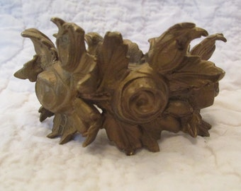Vintage Brass Roses Part to a lamp or light