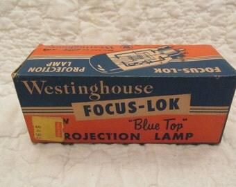 Vintage Westinghouse Projection Lamp Blue Top Bulb SALE