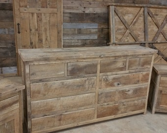 YOUR Custom Made 5 Piece Bedroom Set With Dresser, Headboard, Footboard and 2 Night Stands FREE SHIPPING - BRS36F