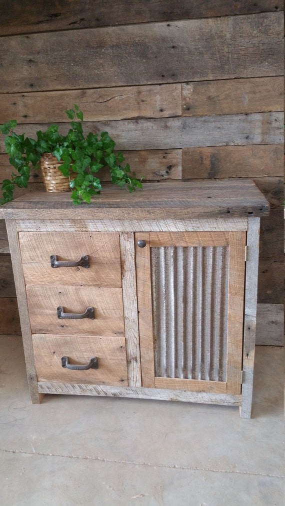 Your Custom Rustic Barn Wood Vanity Or Cabinet With 3 Drawers