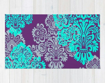 Teppich mint  Böhmische Teppich Boden Teppiche Mint-Damast hellen Ton