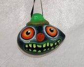 Haunted Halloween Ornament, Egg Gourd Ornament (227)