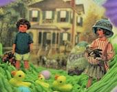 Victorian life  inside a Lattice embossed Panoramic Sugar egg