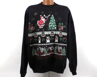 Ugly Christmas Sweater Vintage Sweatshirt Party Xmas Tacky Holiday size 2XL