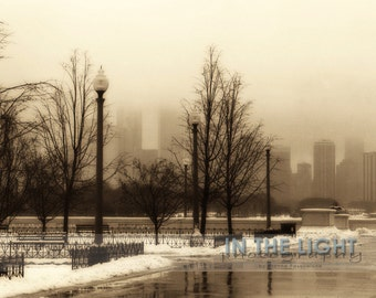 READY TO SHIP - Snowy Chicago - Fine Art Photography
