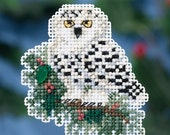 Mill Hill Winter Holiday Collection, Snowy Owlet MH18-1633 Christmas Ornament Counted Cross Stitch Kit
