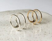 Double Wire Ear Cuff / Dainty Jewelry / Sterling Silver or 14k Gold Filled / Modern / Minimal / Gifts for Her / Cartilage Earring
