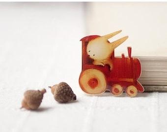 Cute Bunny brooch - Cute brooch - Cute gift - Woodland animals - Cute animals brooch (BH011)