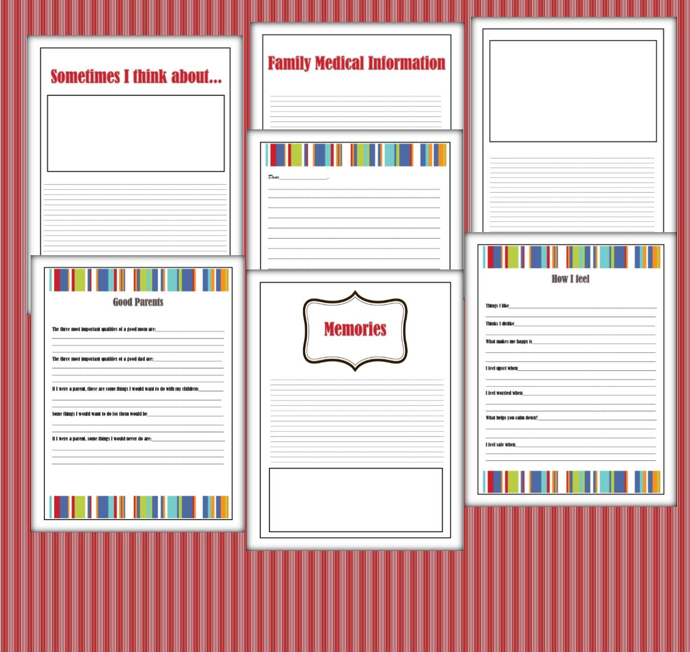 Foster Care Lifebook Life Story Book Printable 41 Pages PDF
