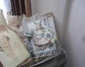 Victorian Easter Bunny Card - Handmade Easter Card