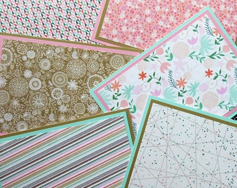 Notecard Set: 6 Different Blank Cards with Matching Embellished Envelopes - Hillside