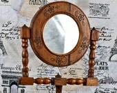 antique free standing wooden mirror...  c. 1910 from an estate sale... Home Decor...