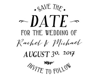 Rachel and Michael Series Save the Date Stamp