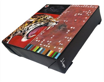 "Title ""Elite Leopard"" -  Signed print on gallery wrapped canvas."