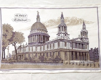 Irish Linen Towel St Paul's Cathedral