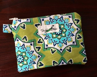 "7""x5"" Tab-Handled Wetbag ~ Spring Medallion Cotton with PUL Lining ~ by Talulah Bean"