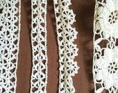 Lot of Vintage Handmade Lace Crocheted Trim, over 8 yards