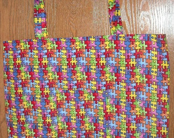 Autism bag with fuchsia lining