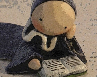 "Poppet Poster (Digital Download)  ""Don't But Me, I'm Reading""  - Lisa Snellings"