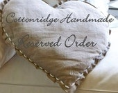 RESERVED - 2 sets Applique Pillow Cover X and O